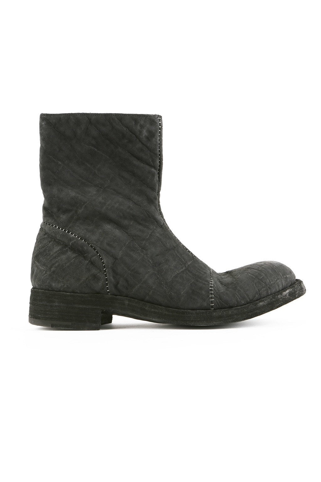Boots - Black Croc Zip Boot