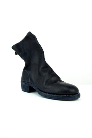 navy horse leather boot