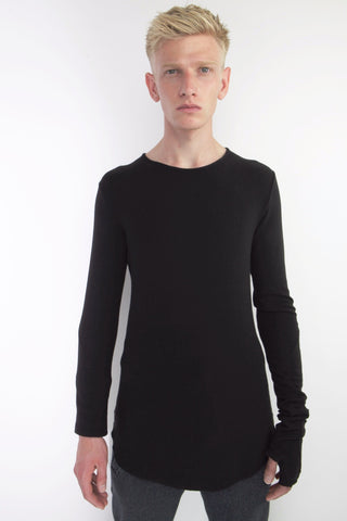 curved hem sweater