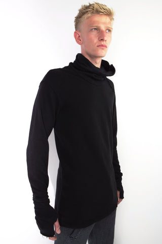 picque and jersey panel zip sweatshirt