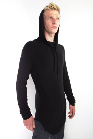 back panel hoodie sweater