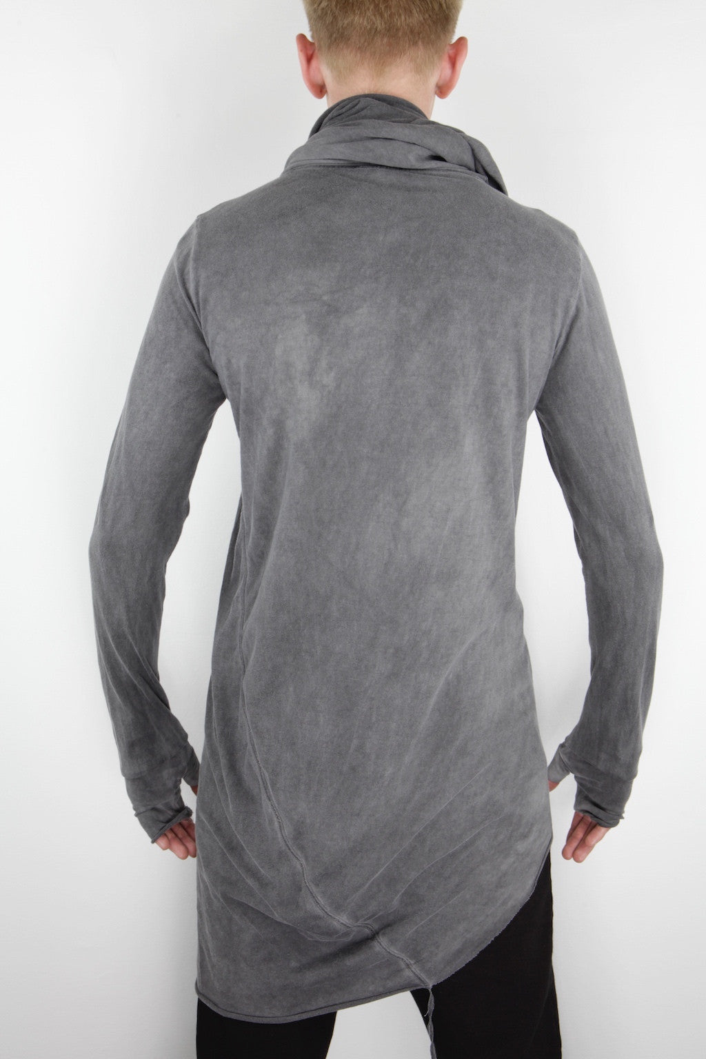 scarf neck long sleeve T-shirt