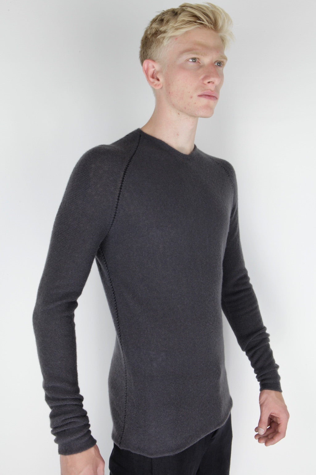 zipped seam yardstick knit