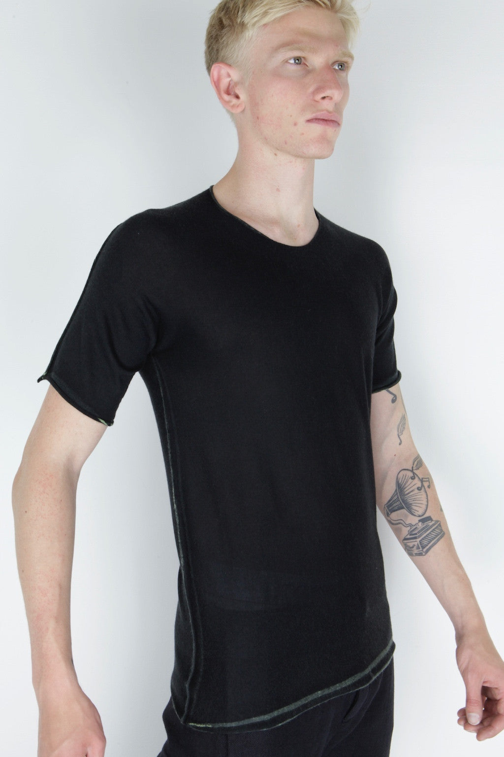 arched printed t-shirt