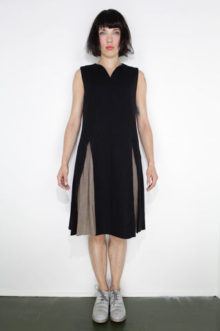 woven, no sleeve dress