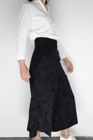 woven layered pants