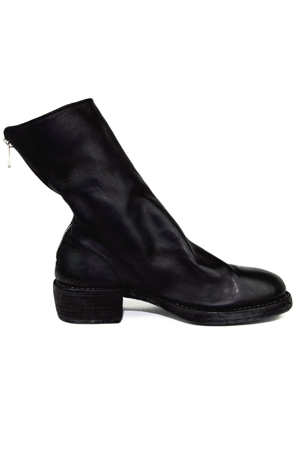 full grain lined black boot