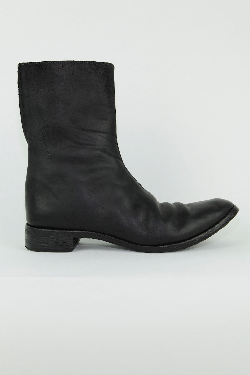 O.D. unlined diagonal zip good year boot