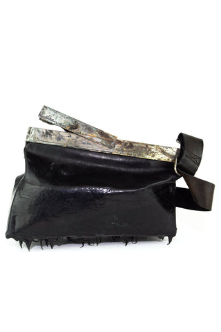 over dyed dripped rubbered multi dim bag
