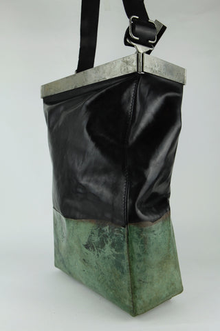 over dyed drip rubbered multi-dim bag