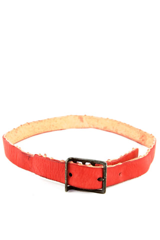 over dyed tanned reverse drip rubbered belt