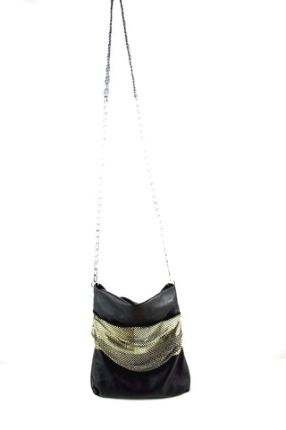 Nappa pleated mesh bag