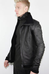 distortion leather jacket