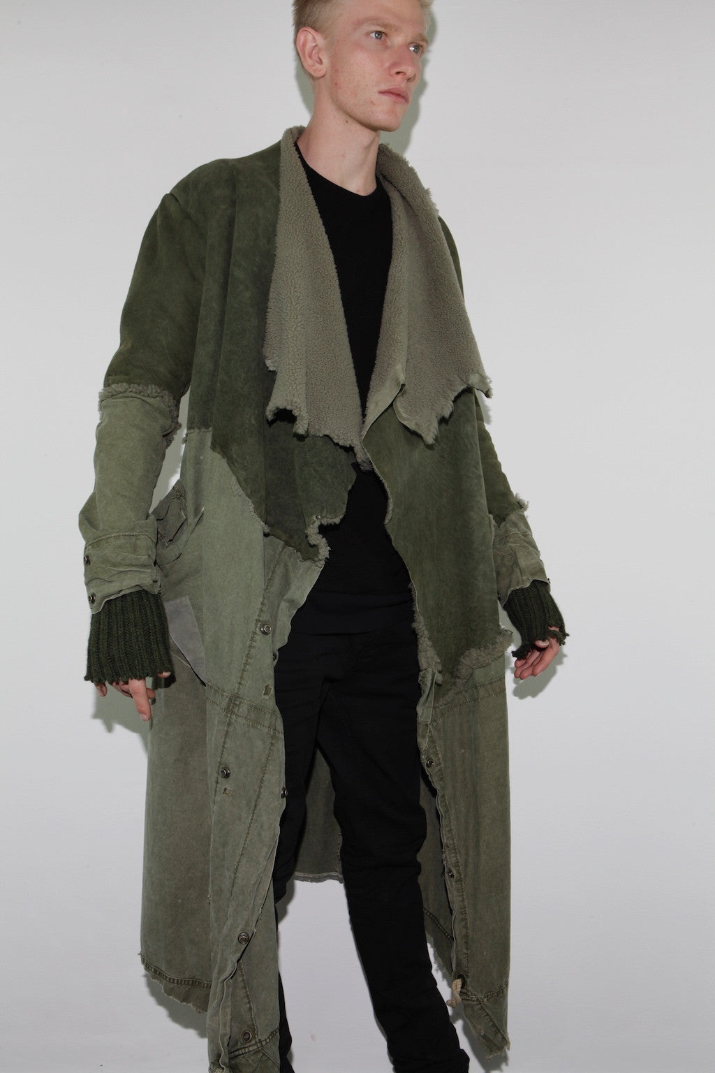 ARMY SHEARLING / TENT NOMAD COAT