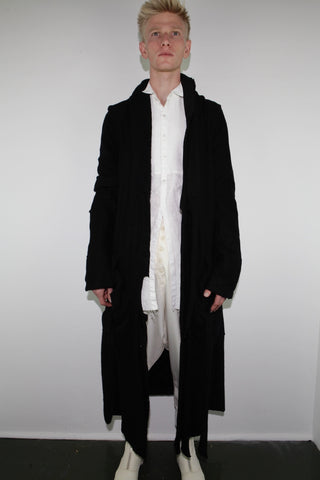 CASHMERE PATCHWORK SMOKING ROBE