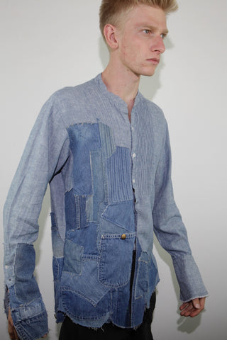 VINTAGE DENIM TUX SHIRT