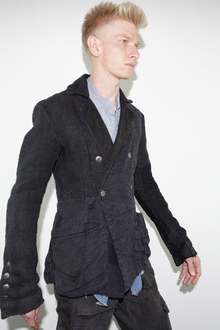 ANTIQUE HEMP AND LINEN DB PEACOAT