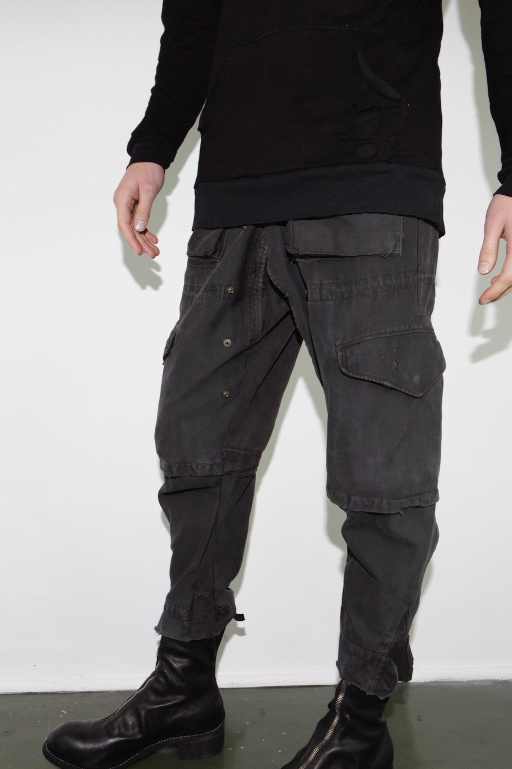 CHARCOAL ARMY JACKET LOUNGE PANT