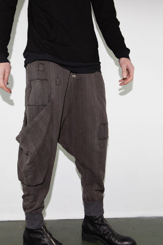 ANTIQUE STRIPE SINGLE DROP WARRIOR PANT