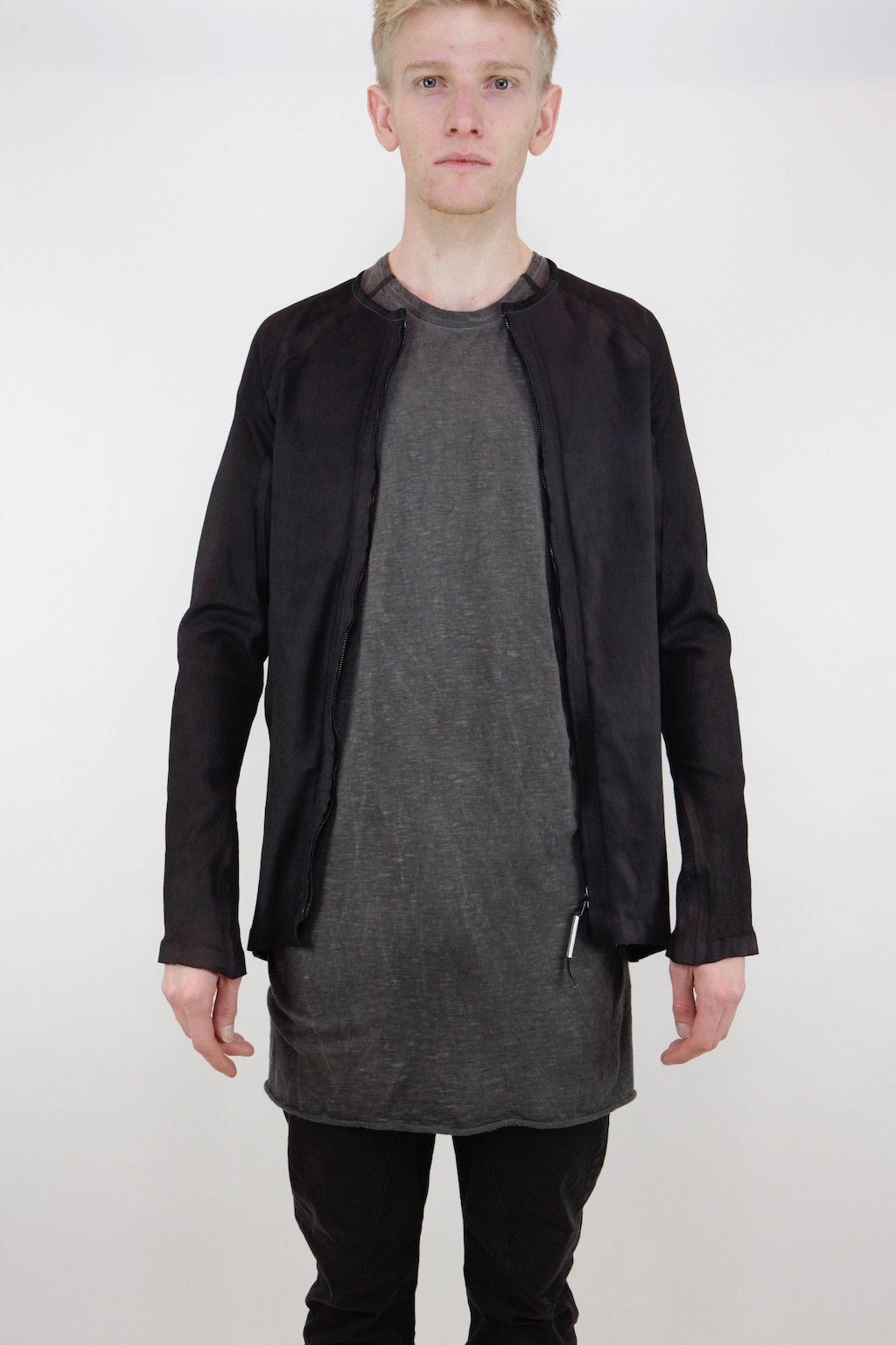 segmente stretch shirt jacket