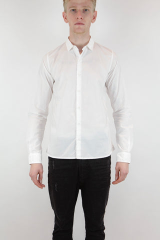 no collar long shirt