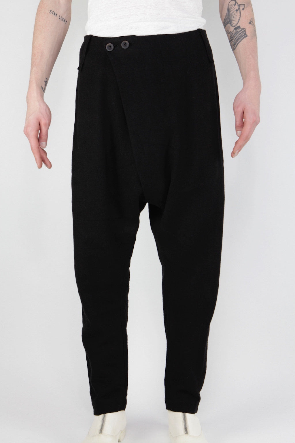 folded front pant