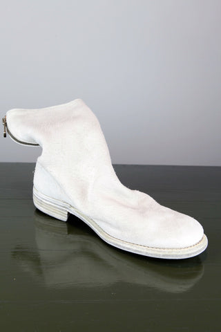 back zip boot - white