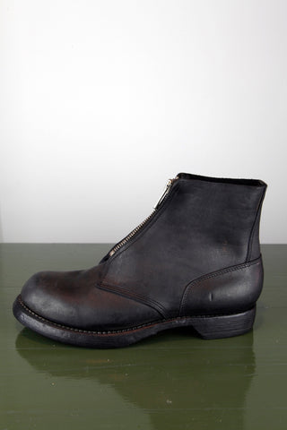 front zip boot - black