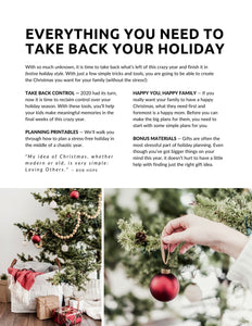 Take Back Your Holiday — A guide to a more peaceful Christmas in 2020