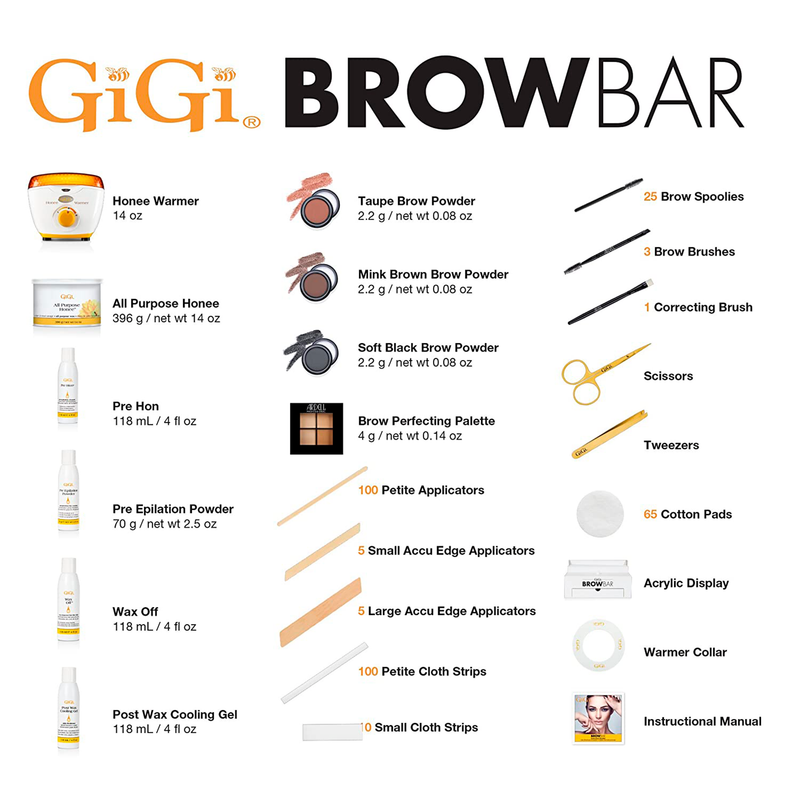 Brow Bar Kit (Full size with 14oz warmer & wax)