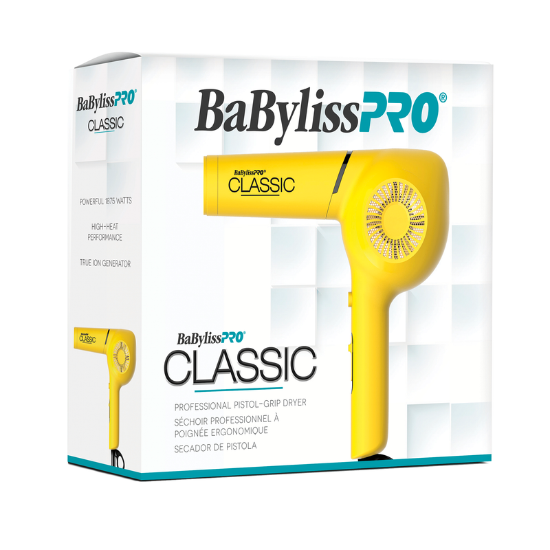 BaBylissPRO CLASSIC Profesional Pistol - Grip Dryer - Yellow