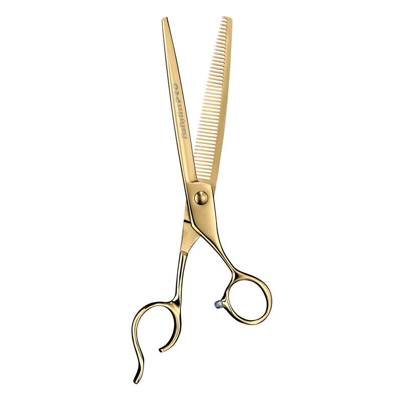 Babyliss Barberology Thinning Shears 7 Inch | Gold | Silver