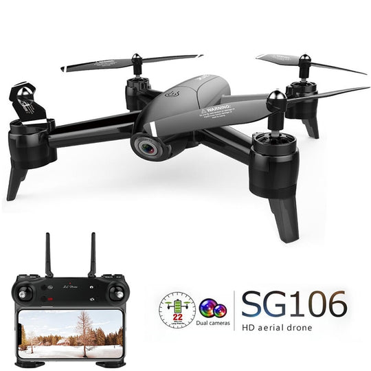 【🌟 5-Star Reviews】SG106 RC Drone Optical Flow 1080P HD Dual Camera Real-Time Aerial Video Aircraft Altitude Hold Gesture Photography Quadcopter