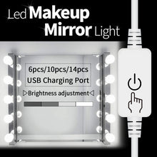 Load image into Gallery viewer, 【🔥 TODAY's Recommend 】CanLing USB LED 8W 12V Vanity Mirror Makeup Lamp 10 Bulbs Kit For Dressing Table
