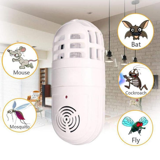 Ultrasonic Soundwaves Electronic Mosquito Pest Killer Insect Trap Cockroach Repeller