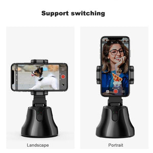 360° object tracking holder, Portable All-in-one Auto Smart Shooting Selfie Stick, Auto Face Tracking vlog Camera Phone Holder