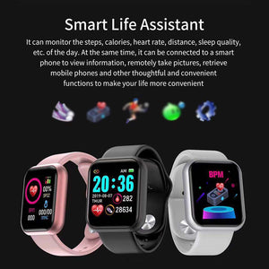 Y68 Smart Watch Women D20 Pro Men Smartwatch for IOS Android Heart Rate Monitor Sports Tracker Wristband