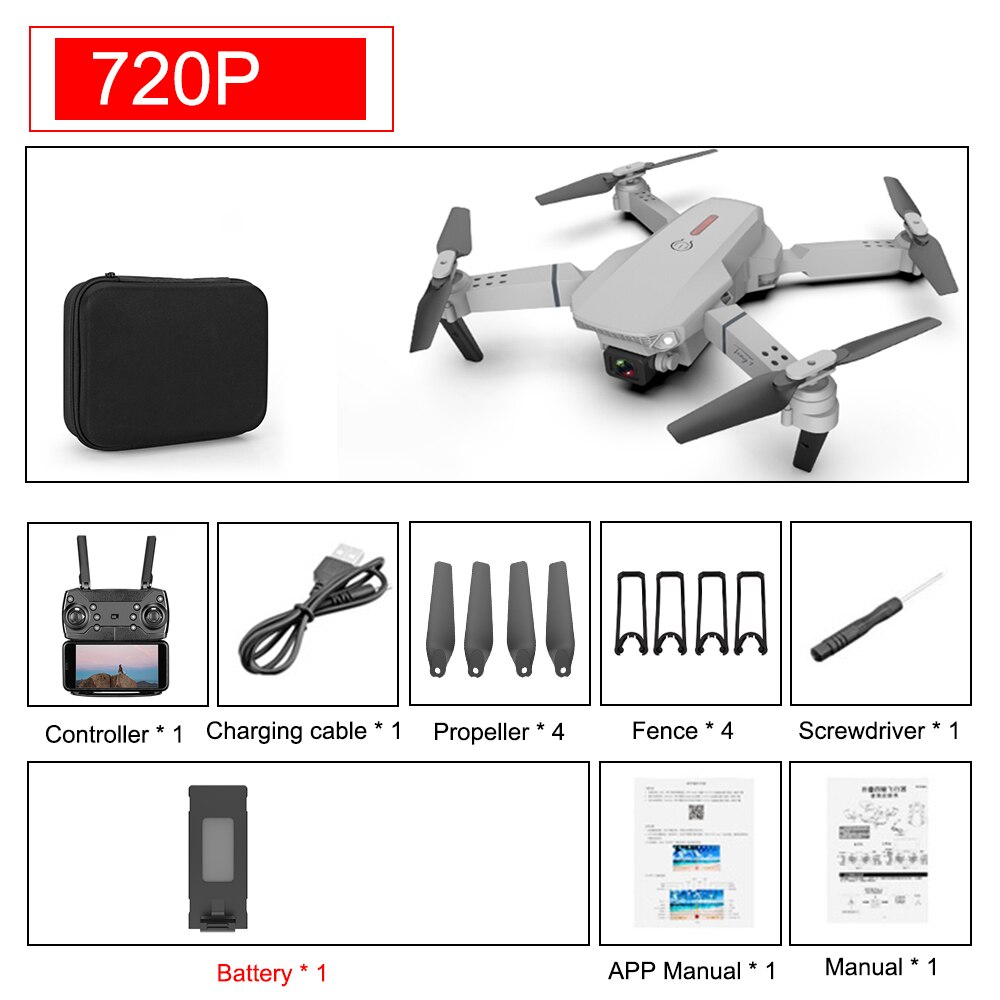【🔥 New Arrival 】E88 Pro RC drone 4K 1080P drone 4k professional drones HD camera  quadrocopter drone with camera HD 4k camera drone