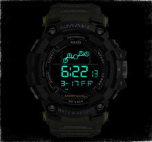 Load image into Gallery viewer, 【🔥New Trending】Mens Watch Military Water resistant Sport watch Army led Digital wrist Stopwatches for male
