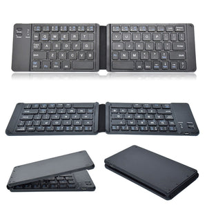 Light-Handy Bluetooth Folding Mini Backlit Keyboard Foldable Keypad For IOS/Android/Windows Ipad Tablet Laptop Computer