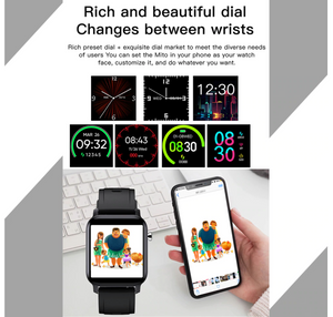 【🌟 5-Star Reviews】M2 Fitness Smart Watch, 15 days battery life, 1.8-inch display 4 Color, IP68 Waterproof Smartwatch