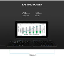 Load image into Gallery viewer, Light-Handy Bluetooth Folding Mini Backlit Keyboard Foldable Keypad For IOS/Android/Windows Ipad Tablet Laptop Computer