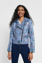 Load image into Gallery viewer, Desigual Nassau Floral Biker Jacket