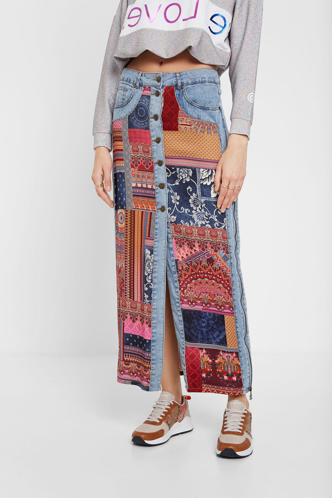 Desigual Grecia Transformable Denim Skirt