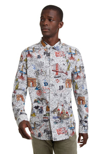 Desigual Man Dress Shirts In ARTLOFT. Designed in Spain, one of Europe's most celebrated Brands.