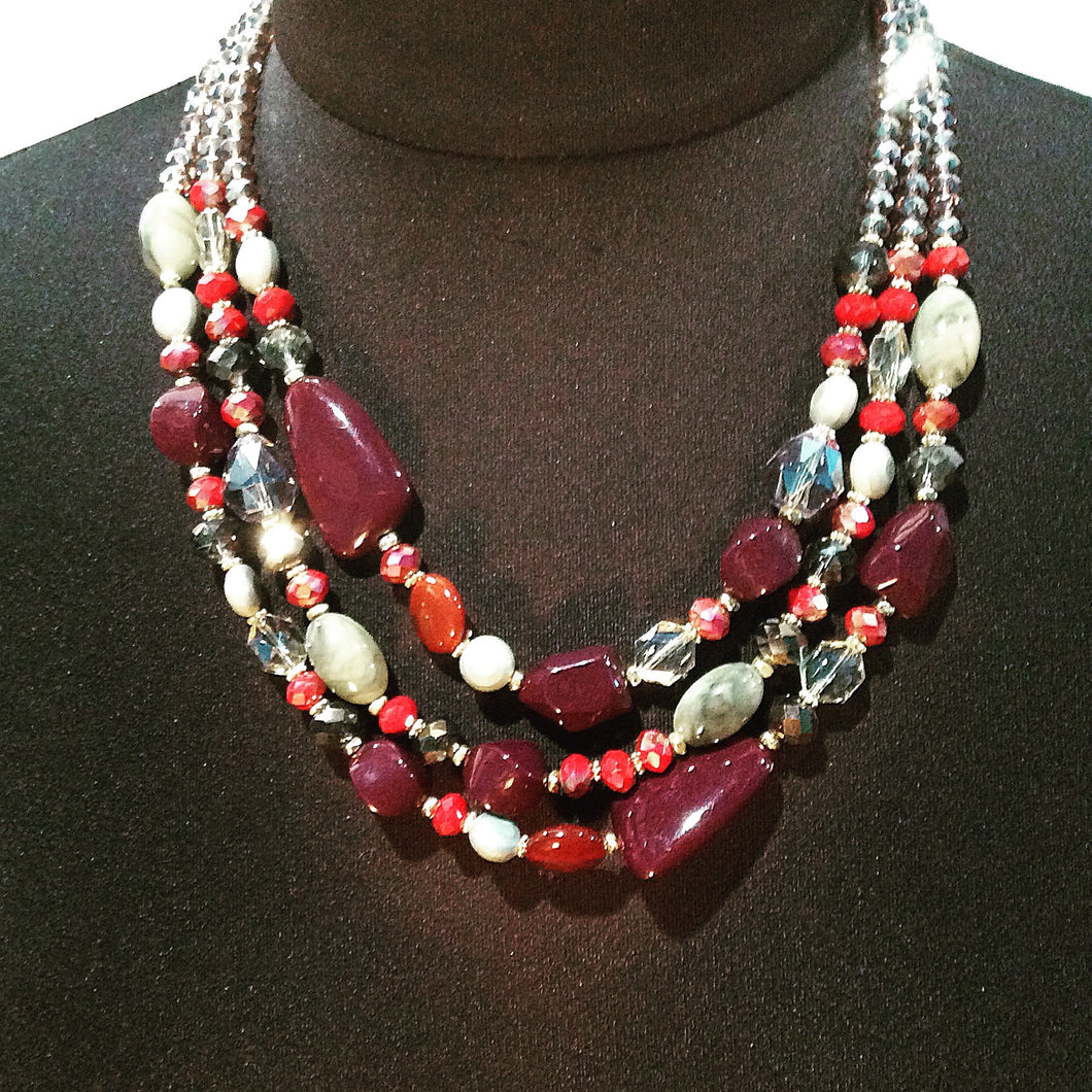 Jewelry, FUN FAUX 3-Strand Necklace