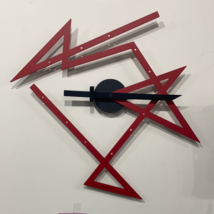 ALESSI Time Maxe Wall Clock Red