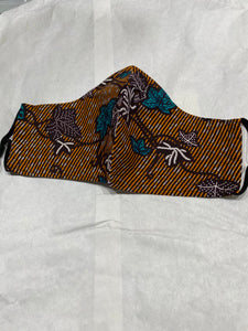 MASKS- Quality in Assorted Ghanaian Wax Prints