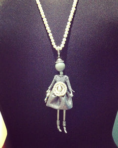 Jewelry, Little Diva-Pearly, Fresh Water Pearl Buckle Dress, long FWP Necklace
