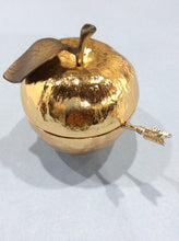 Load image into Gallery viewer, Michael Aram Gold & Nickel Plate Honey Pot- Judaica